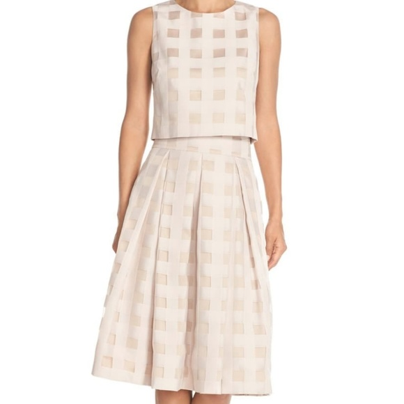 Eliza J Dresses & Skirts - Eliza J Check Satin Two Piece Dress